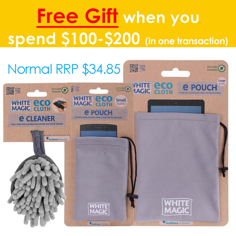 Get Free E cleaner, ePouch Small and Large when you order over $100