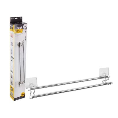 i-hook Double Towel Rail