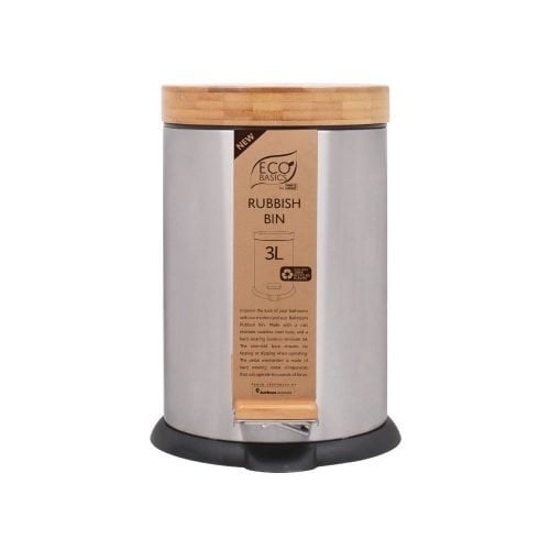 Eco Basics Rubbish Bin 3L New